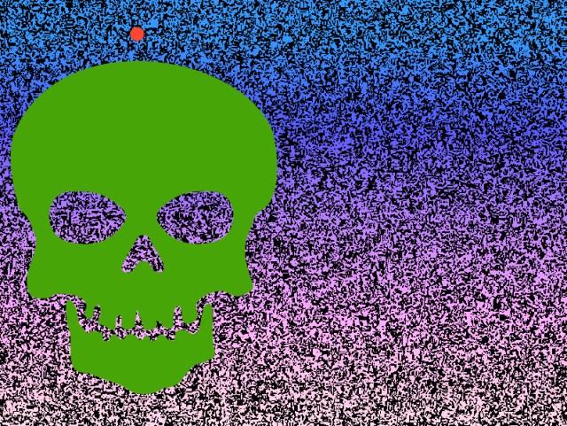 Green Skull Red Dot