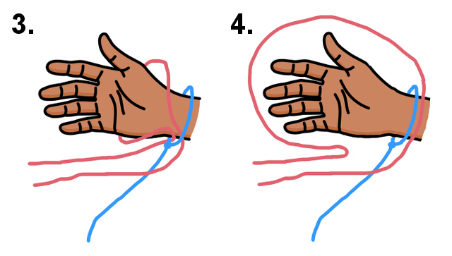 String Handcuffs Puzzle Steps 3 and 4