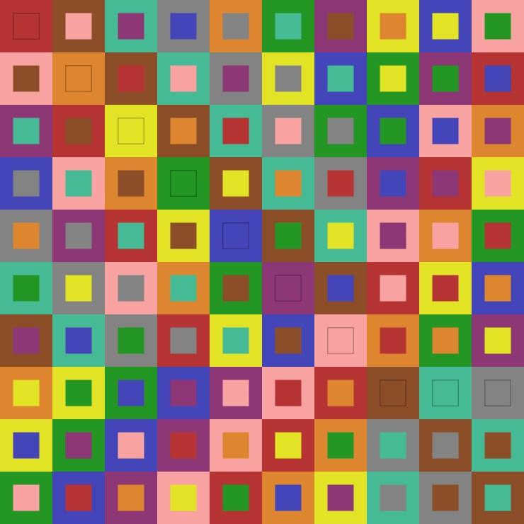 Graeco Latin Square Order 10