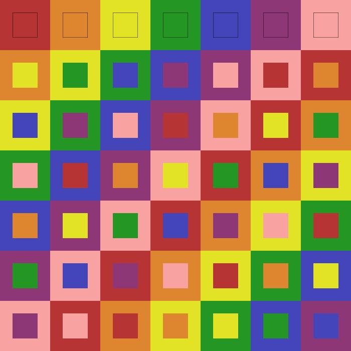 Graeco Latin Square Order 7