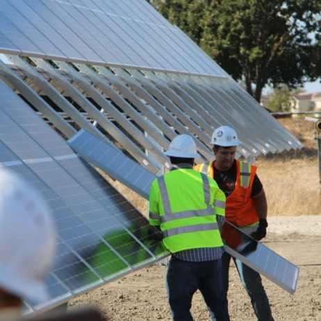 Turning units allows ground level module installation