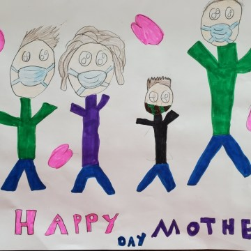 Mothers Day 2020 by Dax Natori Foster & Zane Natori Foster, Acrylic Pen on Paper