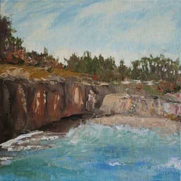 "North Coast Scene  by Sally-Christine Rodgers, Oil on Board, 8"" x 10"""