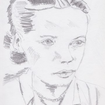 "Mutter: Zarte Träume /Mother: Tender Dreams by Ute Balsley, Pencil 5.5"" x 8"""