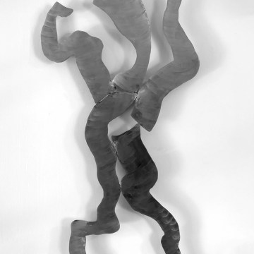 "Woman Emerging by Jeff Owen, $600, Sculpture - Stainless Steel, 35"" x 18"""