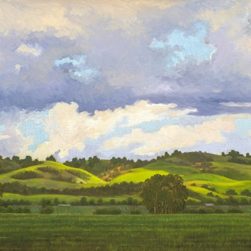"Spring Showers by Ruth Carroll, $1300, Oil on Linen, 18"" x 24"""