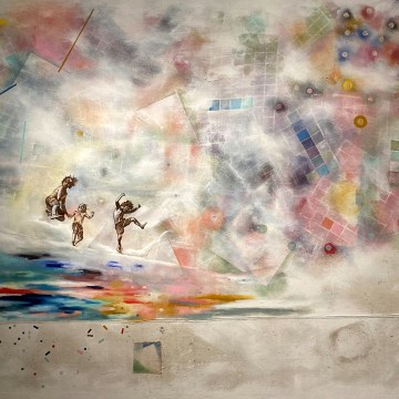 "When We Were... by Sarah Bianco, $2100, Mixed Media on Canvas, 60"" x 72"""