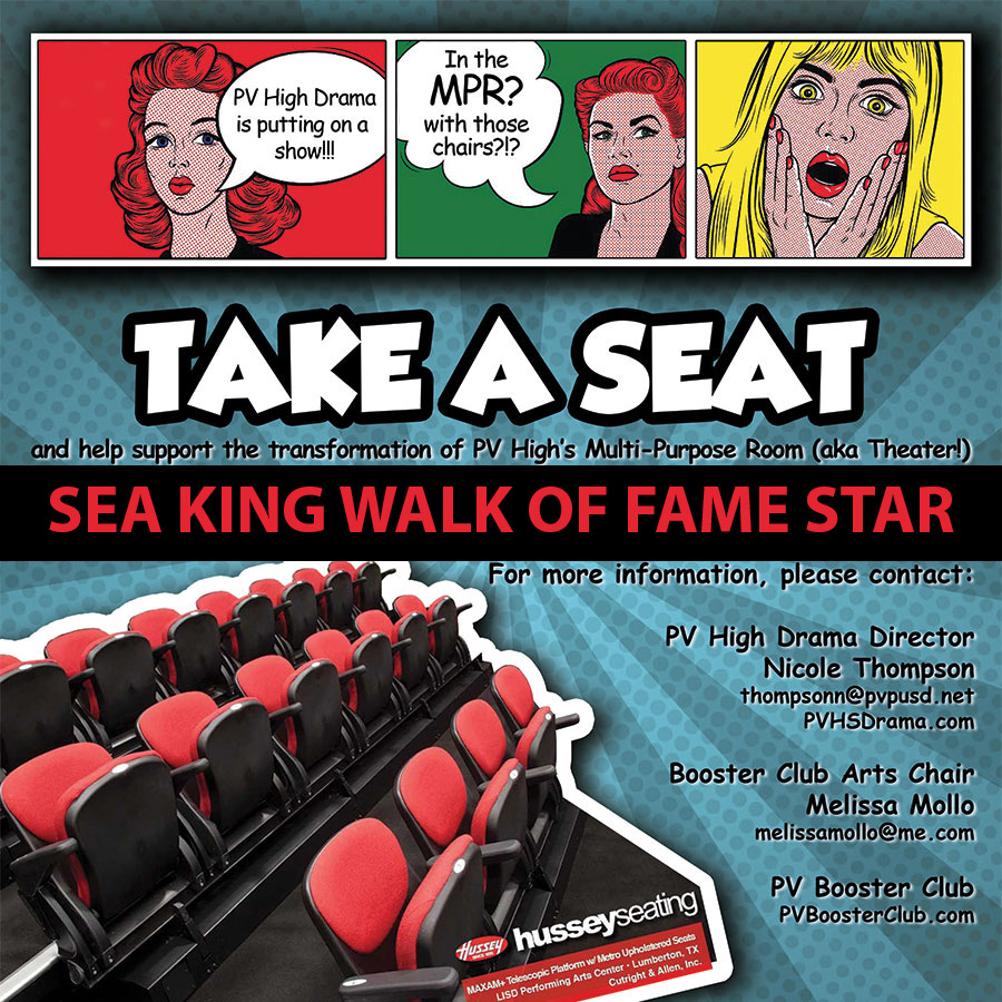 Donation: Take a Seat for PVHS Drama - Sea King Walk of Fame Star