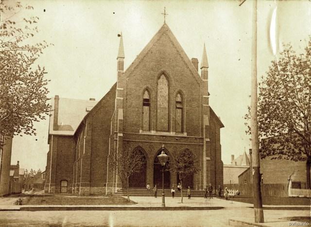 6 1890 c Methodist Church on Cowan Ave that became a Presbyterian Church in 1896. Later it became S  Johns Polish National Catholic Church on Cowan