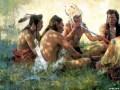 10 b indians-smoking-pipe