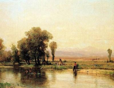 1870 a prairie painting Thomas Worthington Whittredge