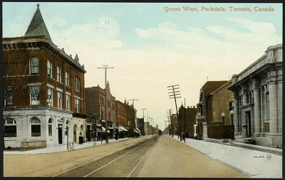 q 1400 Queen St W 1910 O'Hare remodeled as a bank. Tor Pub Lib