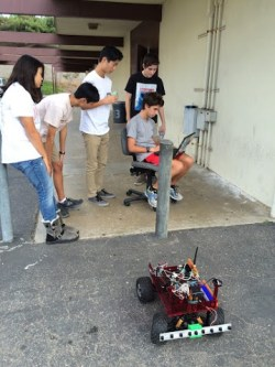 Palos Verdes Institute of Technology | PVIT - Robomagellan -- photo of students with robot