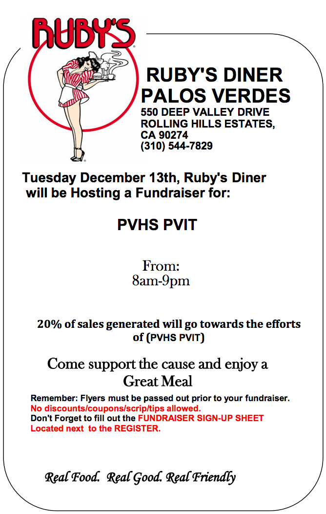 PVUT Ruby's Fundraiser December 2016