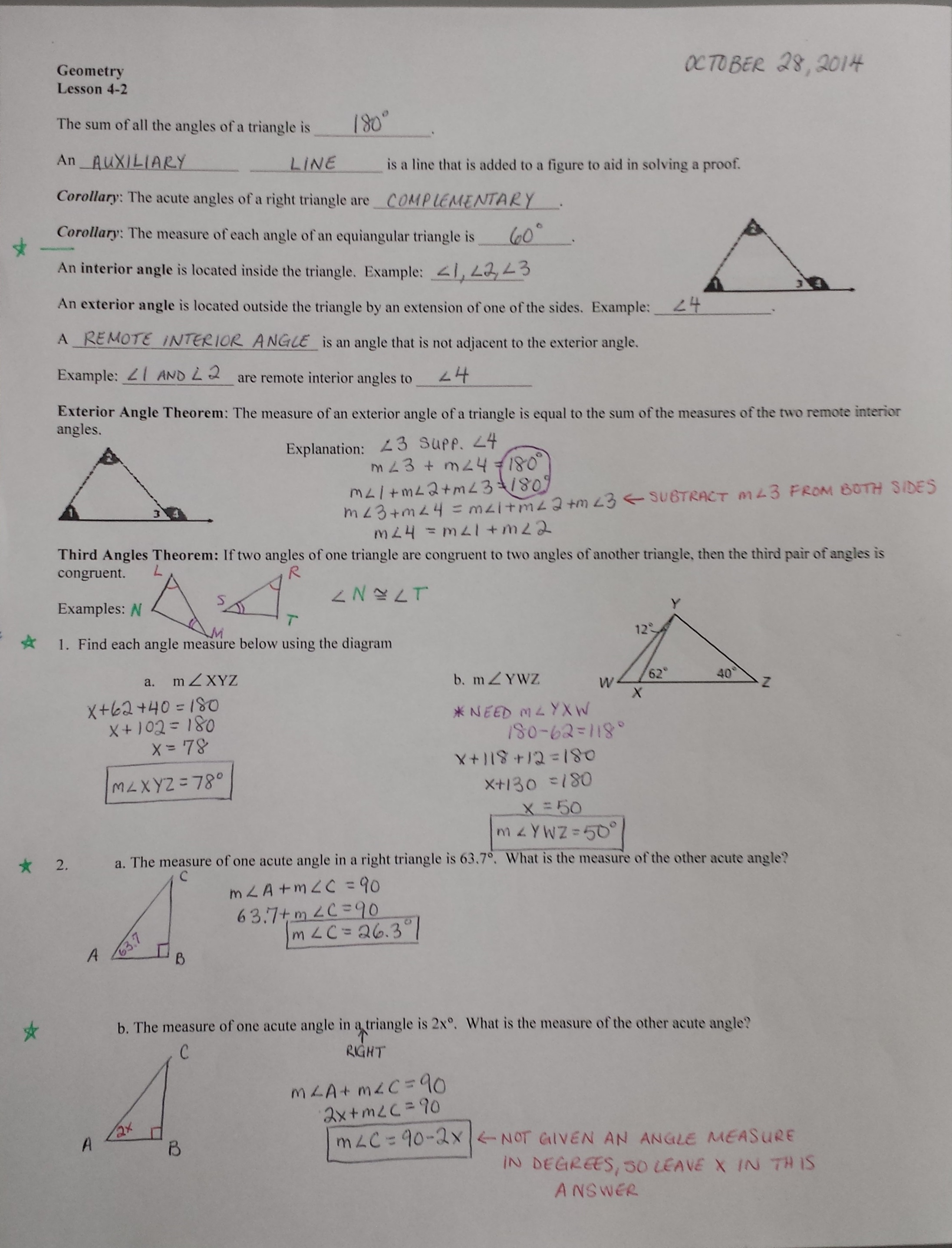 Practice 4 4 Using Congruent Triangles Cpctc Worksheet