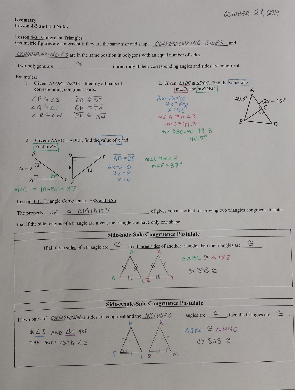 Geometry Help Notes