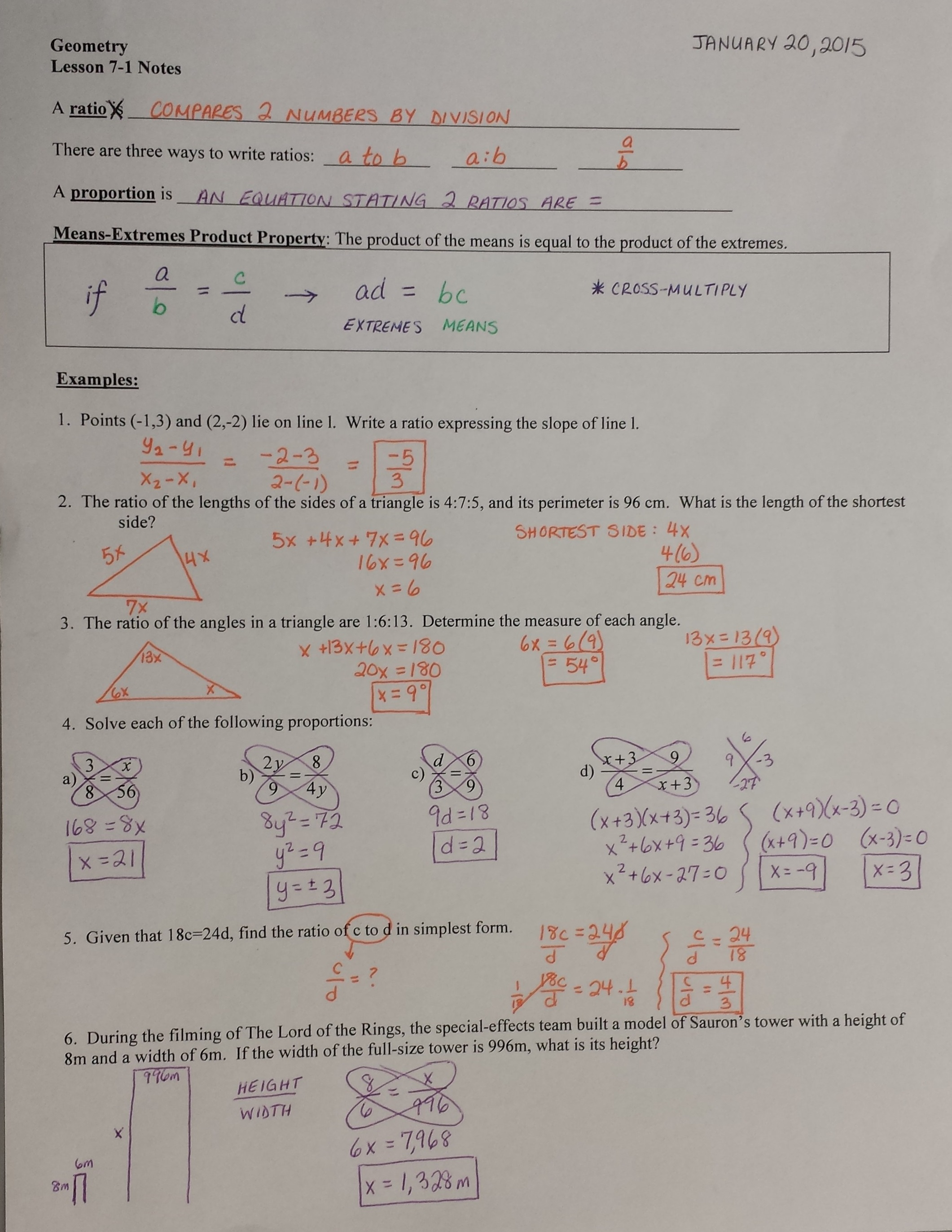 Proportions Alge Marcy Mathworks Worksheet Answers