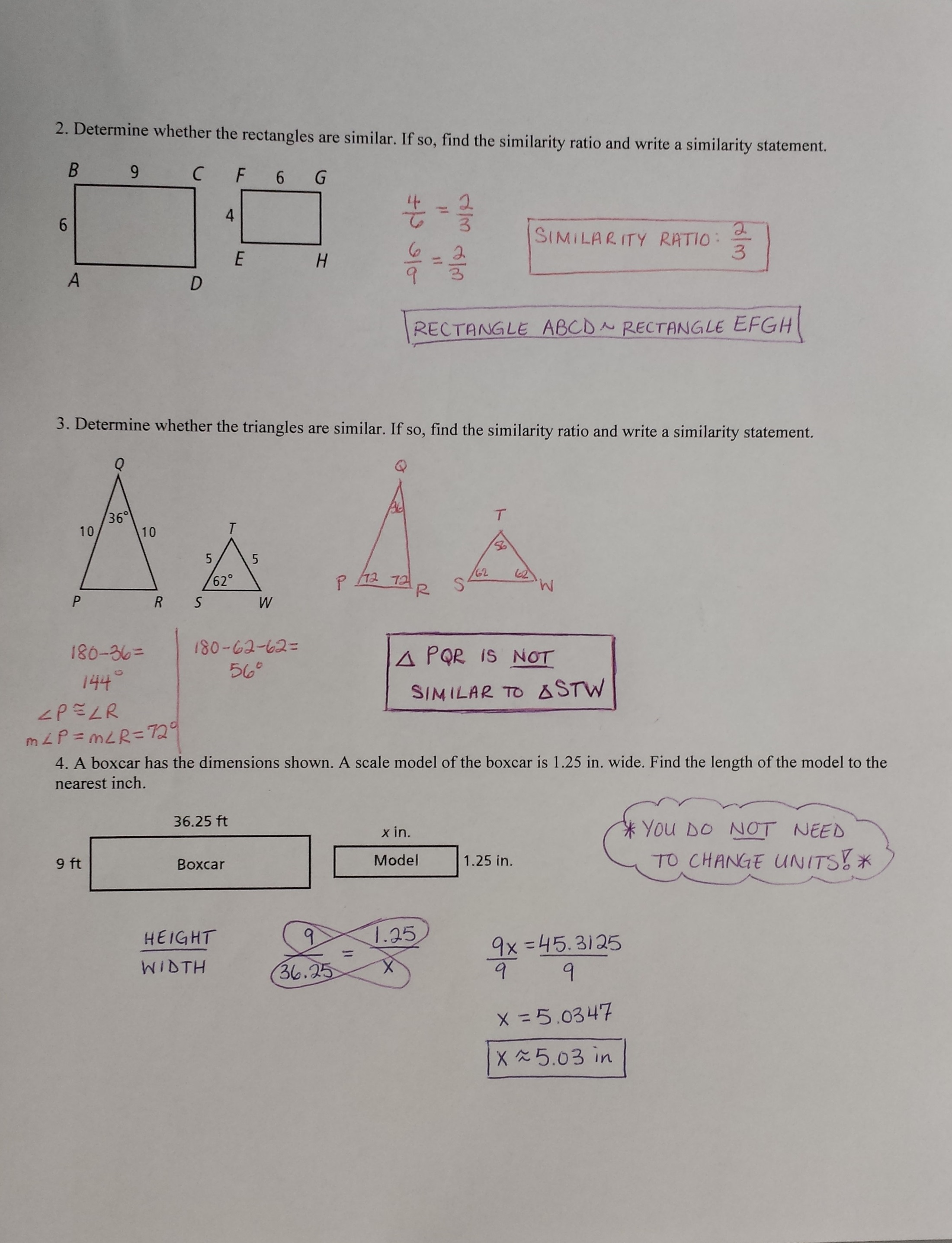 Worksheet Geometry Similarity Worksheet Worksheet Fun
