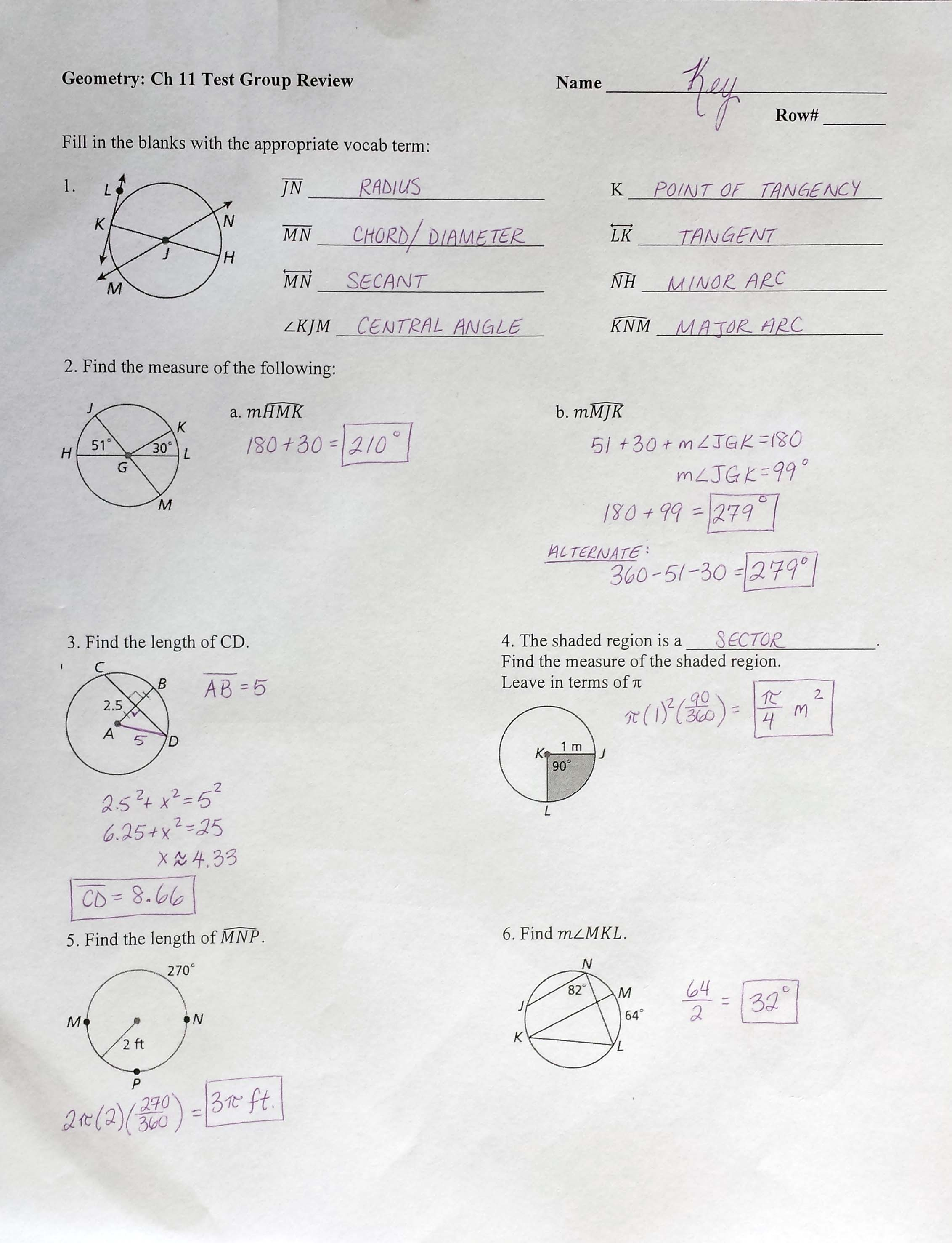 Bestseller Geometry Circles Test Answers