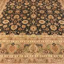 black-and-gold-traditional-rug-scottsdale-az-pv-rugs-overview