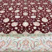 Traditional Red Beige Wool and Silk Rug Overview Scottsdale AZ PV Rugs