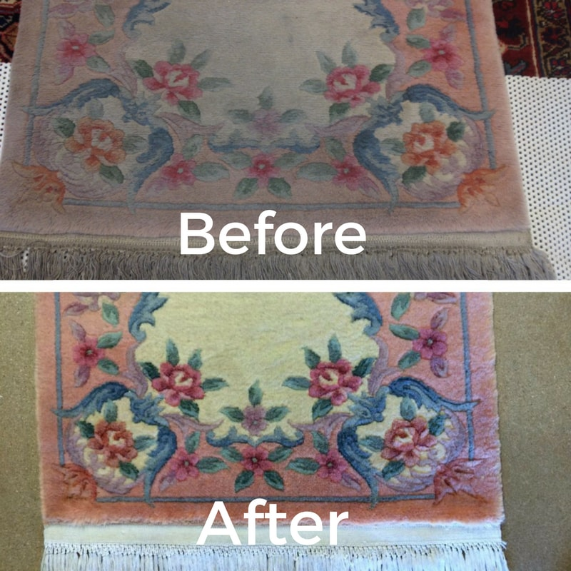Dirty Chinese Rug, Clean Chinese Rug, Rug Cleaning, Scottsdale; Oriental ...
