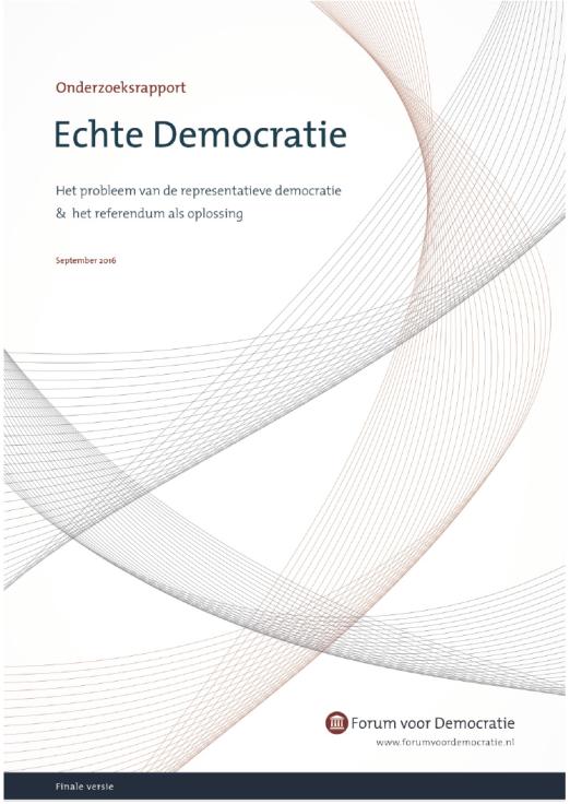 Omslag rapport echte democratie