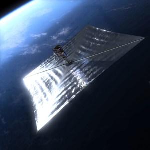 PW-Sat2 z otwartym żaglem deorbitacyjnym. Autor: Marcin Świetlik
