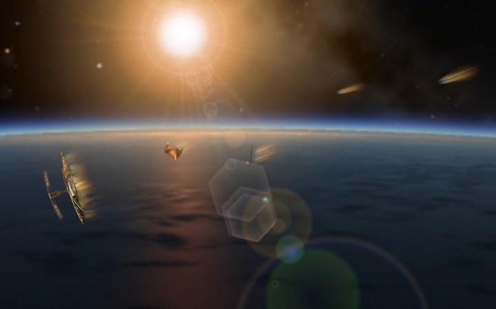 PW-Sat2 spalający się w atmosferze podczas deorbitacji. Autor: Marcin Świetlik