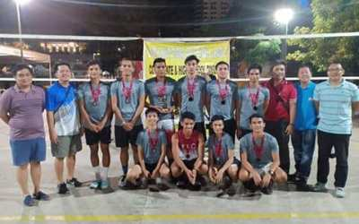 Team Patriots compete in volleyball league
