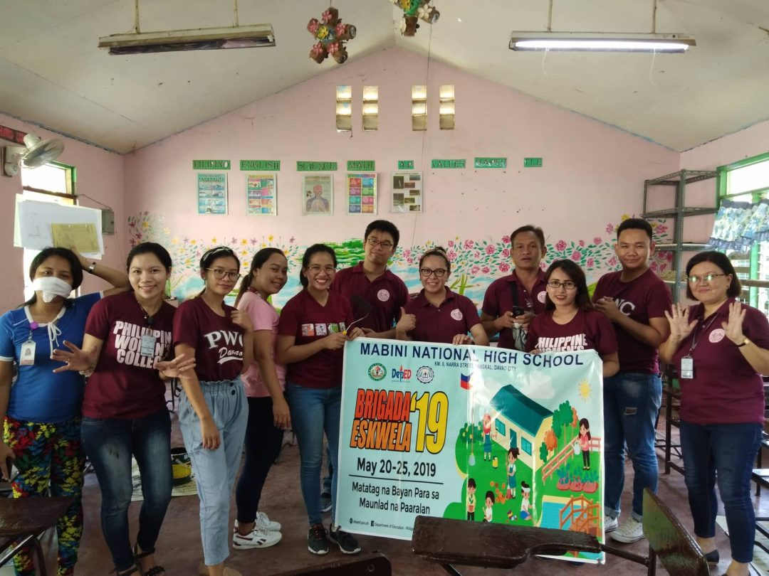 PWC personnel take part in Brigada Eskwela 2019
