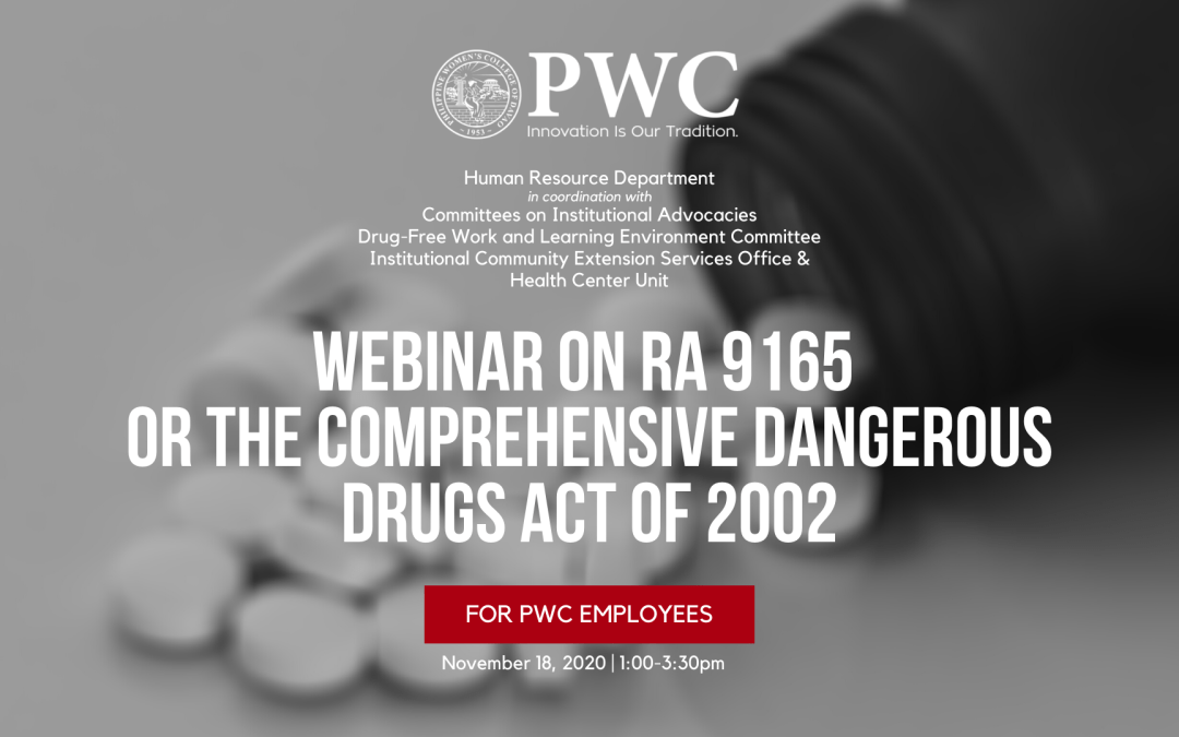 PWC conducts Webinar on The Comprehensive Dangerous Drugs Act of 2002 for employees