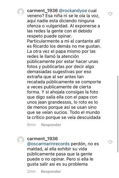 """3 20 - """"Miren a la evangélica"""": Evaluna desató críticas por un """"recostón"""" que le hizo a Camilo en concierto"""