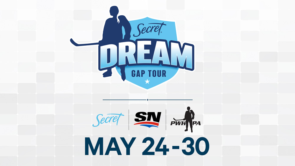"""Featured image for """"Secret Deodorant and Sportsnet Partner to Deliver Exclusive Coverage of PWHPA's Secret Dream Gap Tour in Canada"""""""