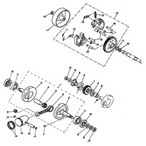 Yamaha PW50 PW80 Schematics  PWOnly  Parts Diagrams