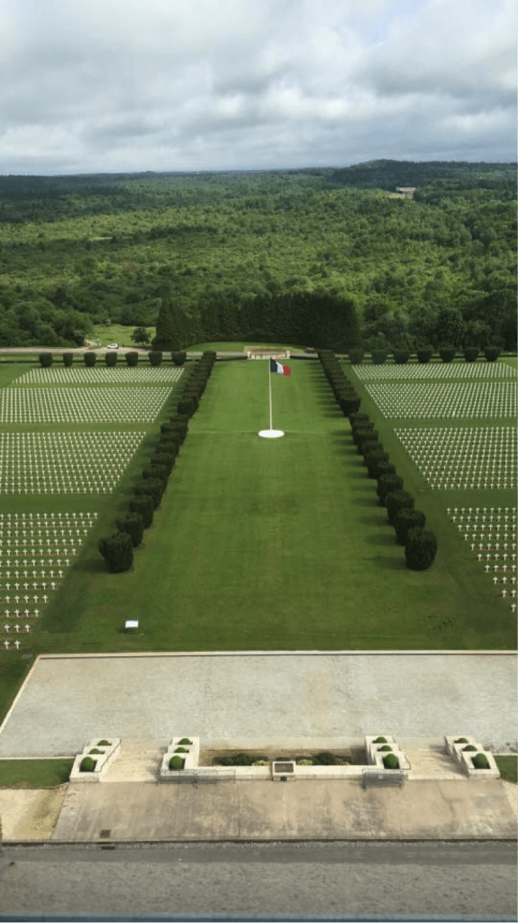 One of the Verdun cemeteries outside of the Douaumont Ossuary