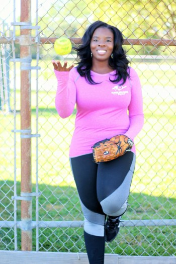 Tanelda McDonald Playing for Purpose Sports softball