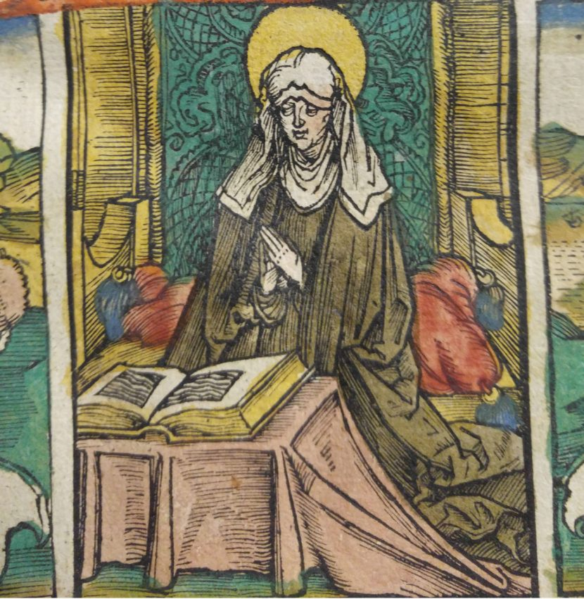 St. Bridget of Sweden, woodcut