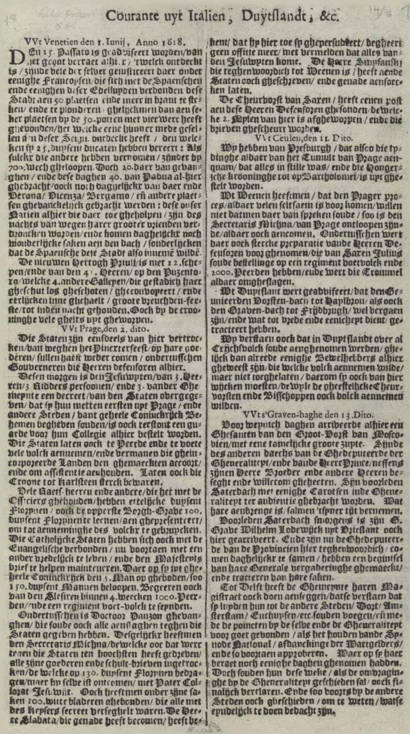 Issue of the Courante