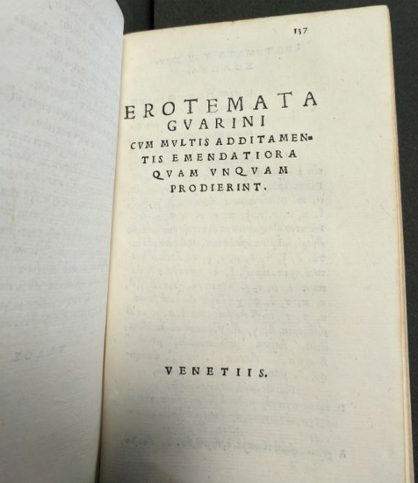 Title page of Greek grammar