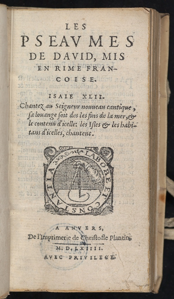 title page of Plantin's Psalter