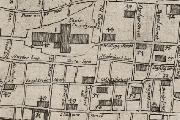 Hollar's Map, detail