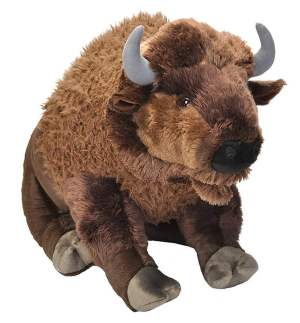 Giant Stuffed Cuddly Bison