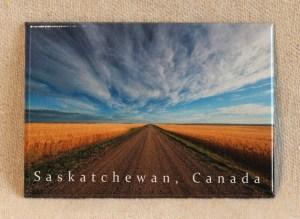 Robert Postma Magnet Gravel Road and Blue Sky in Saskatchewan