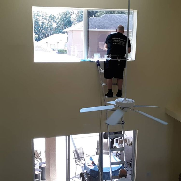 window film, window tint. Oviedo, Florida window film installation