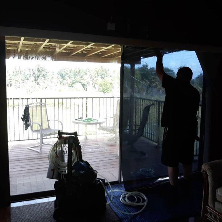 Installing Llumar RN07 on sliding glass doors