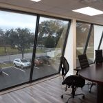 Commercial window tinted with Llumar DR 05