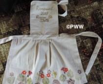 Sanette's dyed apron