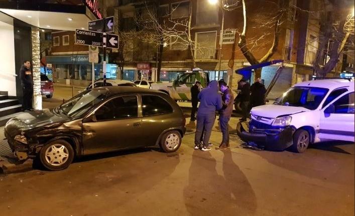 Choque en pleno microcentro: un conductor estaba borracho