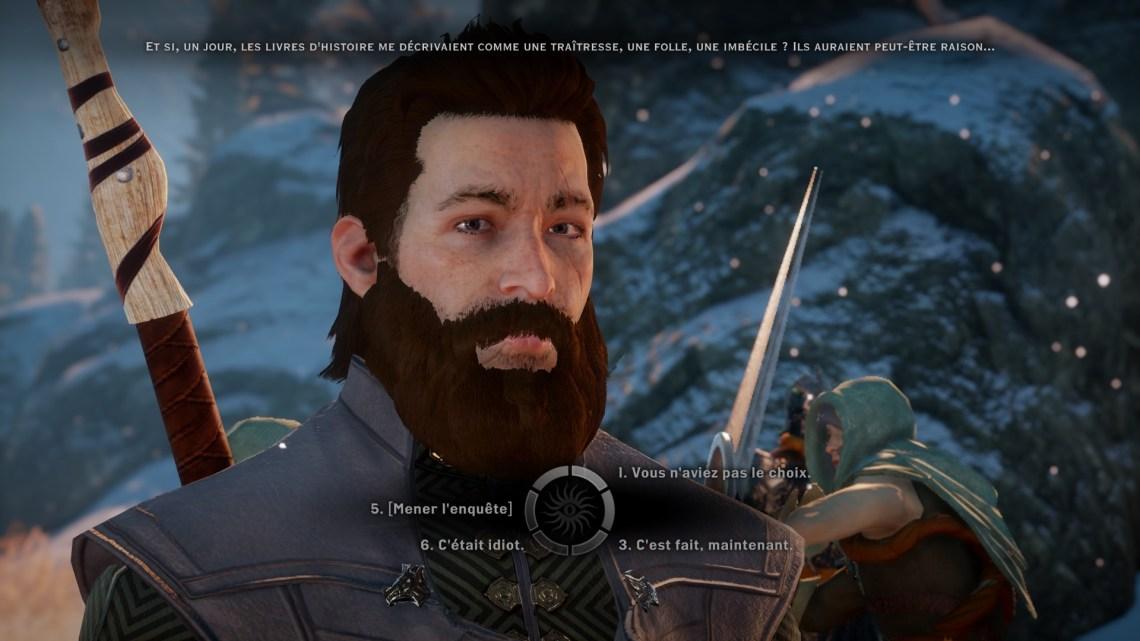 Dragon Age Inquisition Image du jeu PC choix dialogues